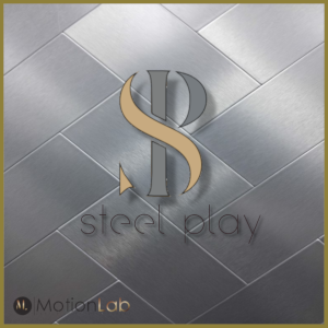 small Steel play logo